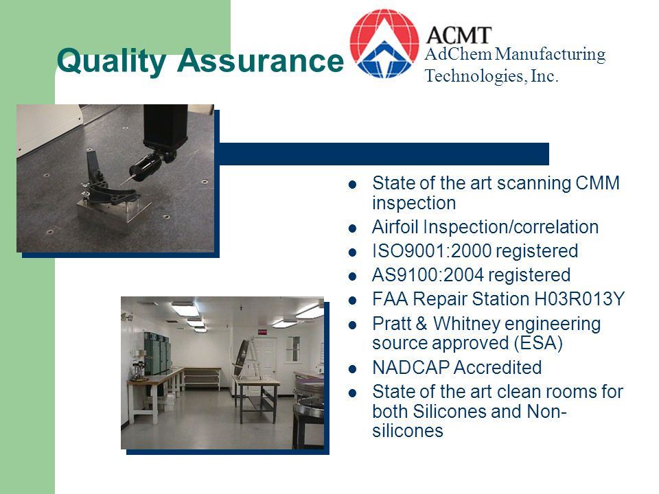 Complete Laboratory Capabilities In-house full service laboratory for metal and non-metal with destructive and non-destructive testing capabilities.
