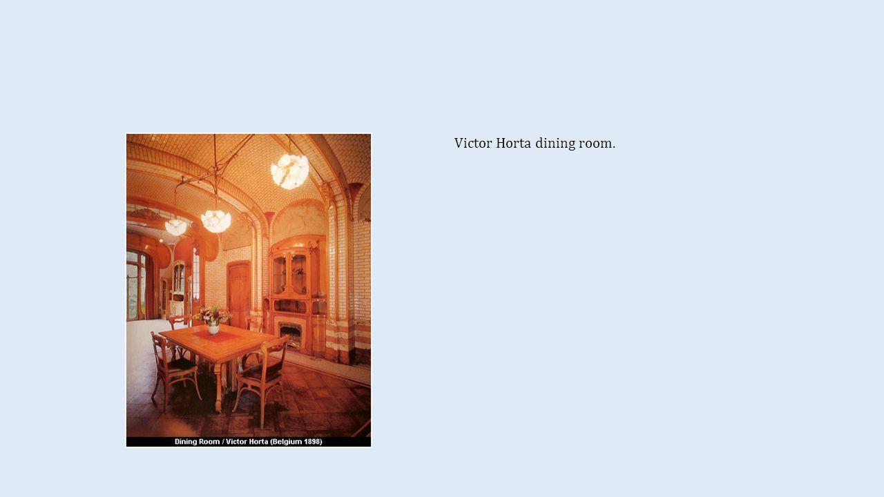 Victor Horta dining room.