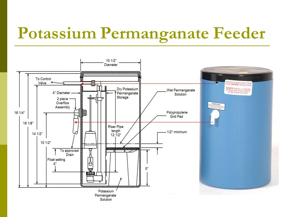 Potassium Permanganate Feeder