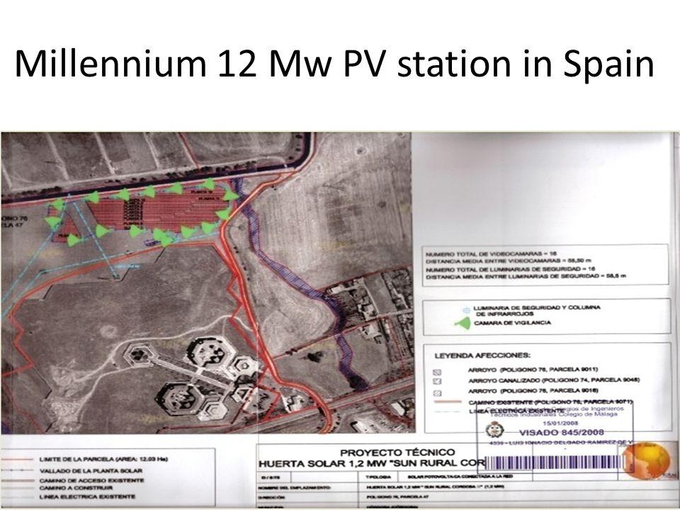 Millennium 12 Mw PV station in Spain