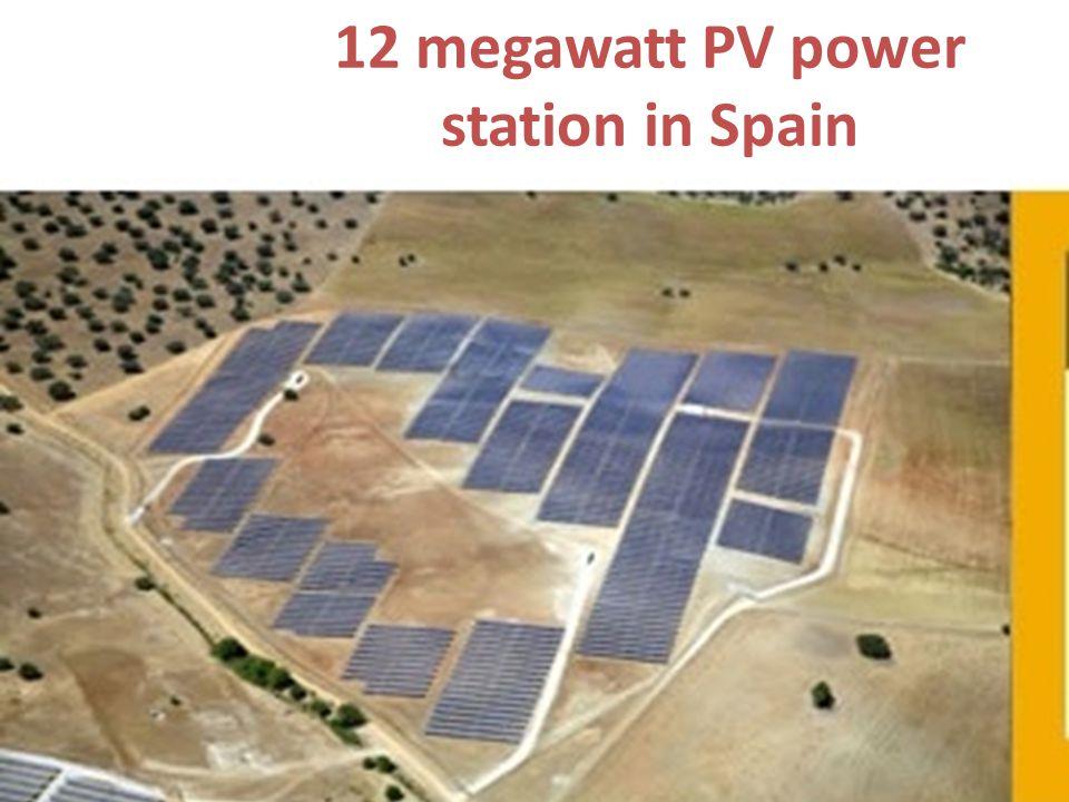 12 megawatt PV power station in Spain
