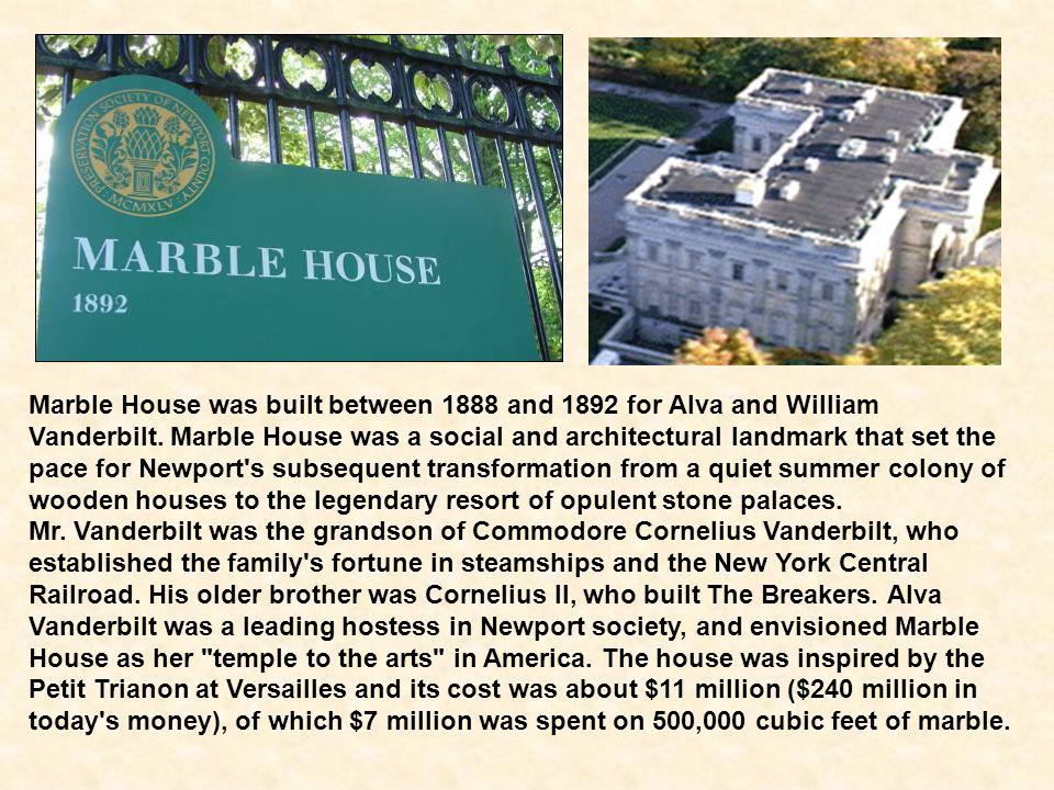 As I mentioned in part one of my presentation, at the end of the 19th century, the wealthiest New York bankers and business families chose Newport, Rhode Island as their summer resort.