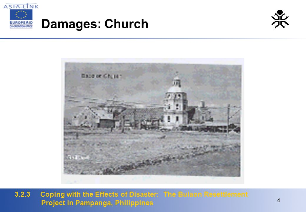 3.2.3 Coping with the Effects of Disaster: The Bulaon Resettlement Project in Pampanga, Philippines 4 Damages: Church