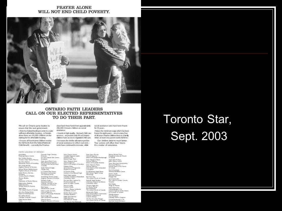 Toronto Star, Sept. 2003