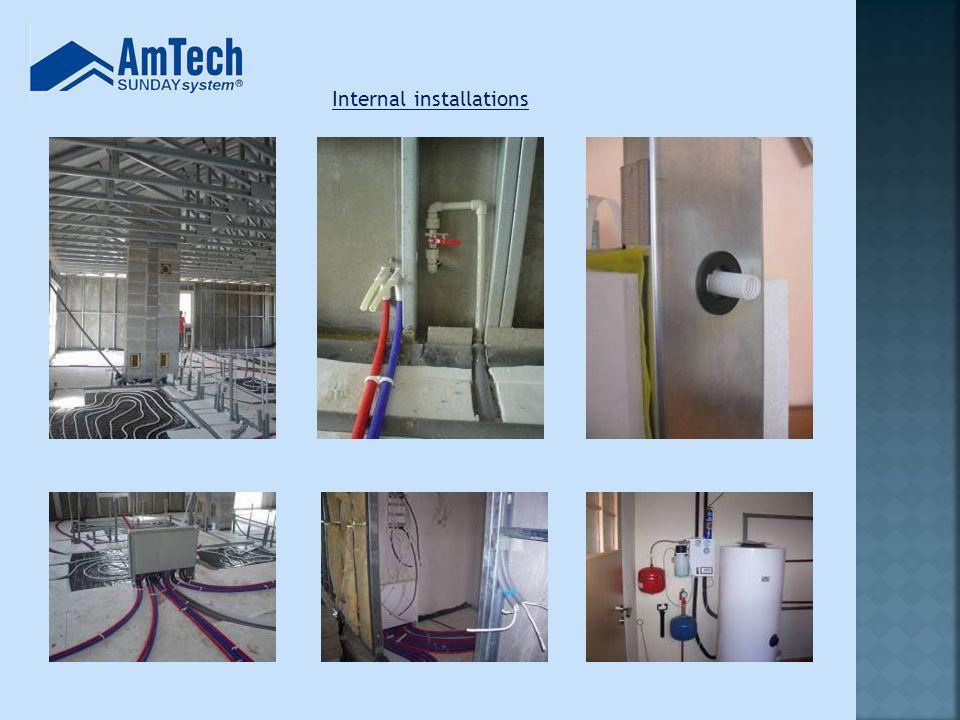 Internal installations