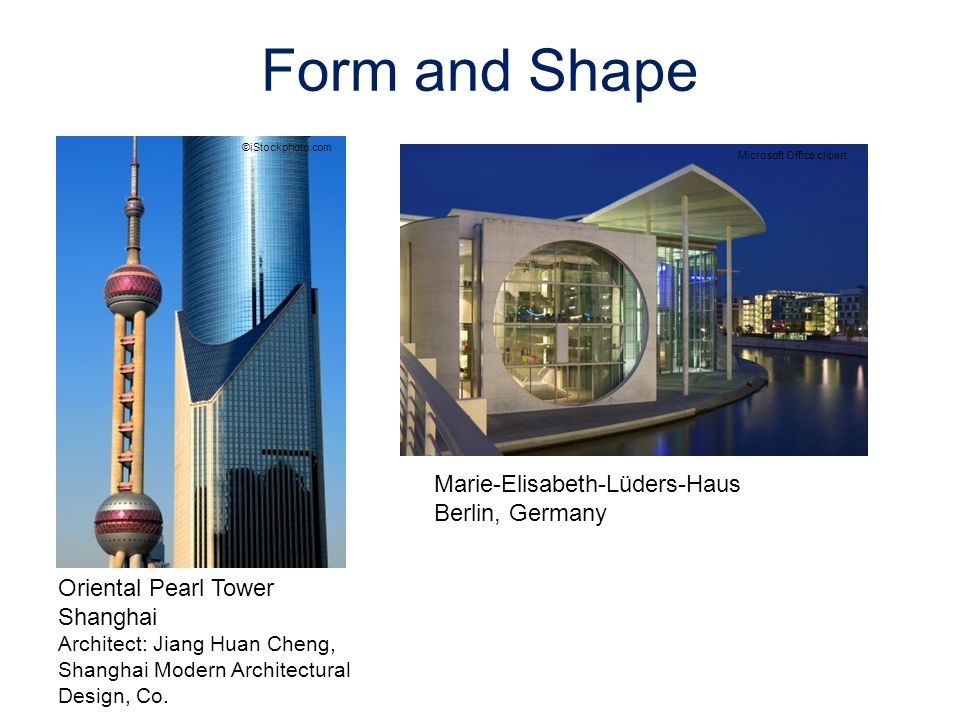 ©iStockphoto.com Oriental Pearl Tower Shanghai Architect: Jiang Huan Cheng, Shanghai Modern Architectural Design, Co. Marie-Elisabeth-Lüders-Haus Berl