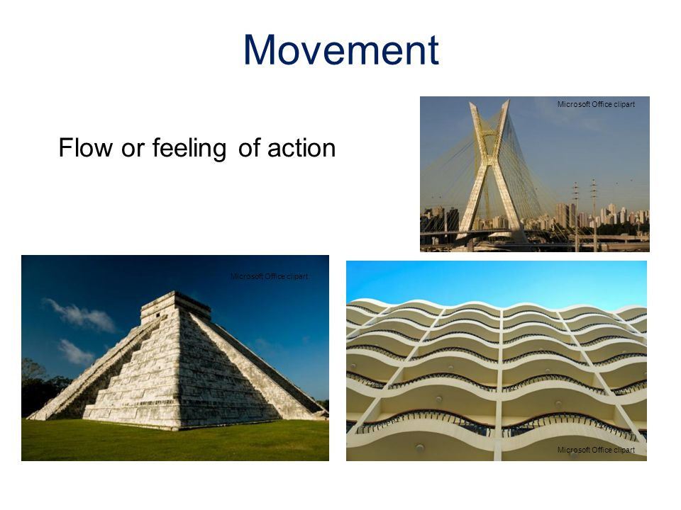 Flow or feeling of action Movement Microsoft Office clipart