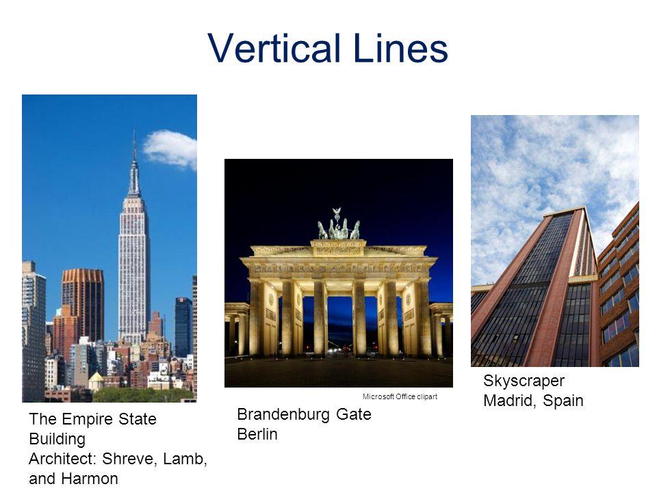Vertical Lines Skyscraper Madrid, Spain Microsoft Office clipart Brandenburg Gate Berlin The Empire State Building Architect: Shreve, Lamb, and Harmon