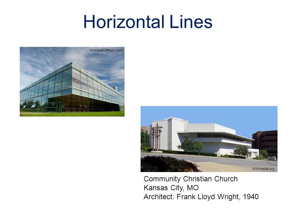 Horizontal Lines Microsoft Office clipart Community Christian Church Kansas City, MO Architect: Frank Lloyd Wright, 1940 Wikimedia.org