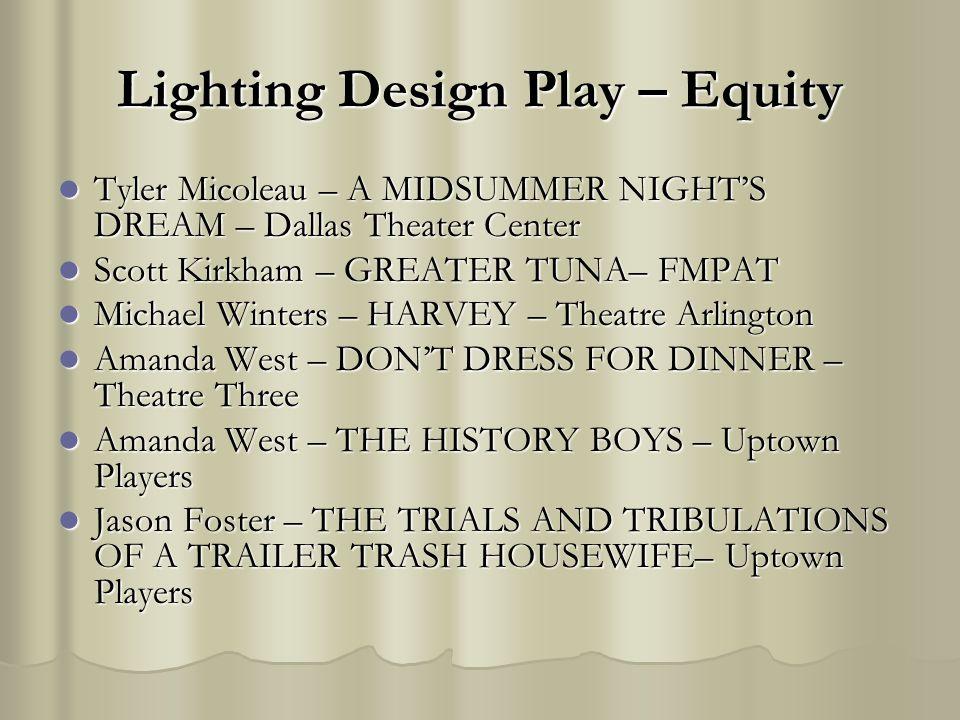 Lighting Design Play – Equity Tyler Micoleau – A MIDSUMMER NIGHTS DREAM – Dallas Theater Center Tyler Micoleau – A MIDSUMMER NIGHTS DREAM – Dallas The