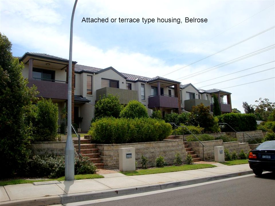 Attached or terrace type housing, Belrose