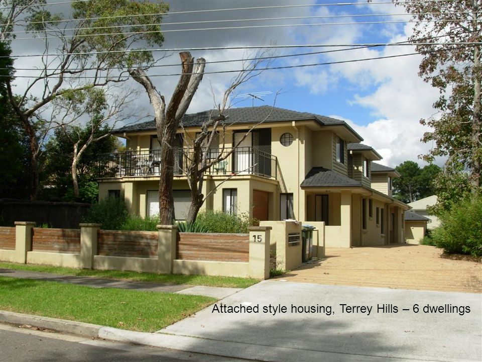 Attached style housing, Terrey Hills – 6 dwellings
