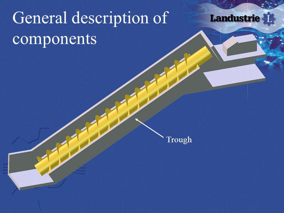 General description of components Trough