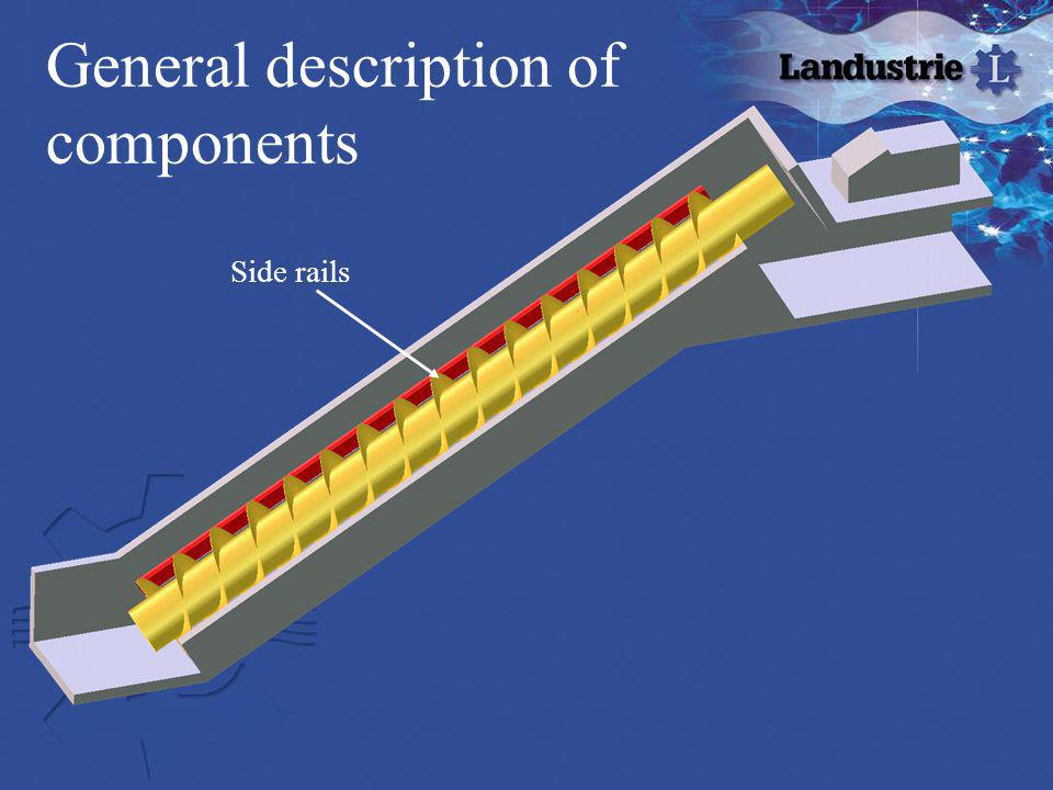 General description of components Side rails