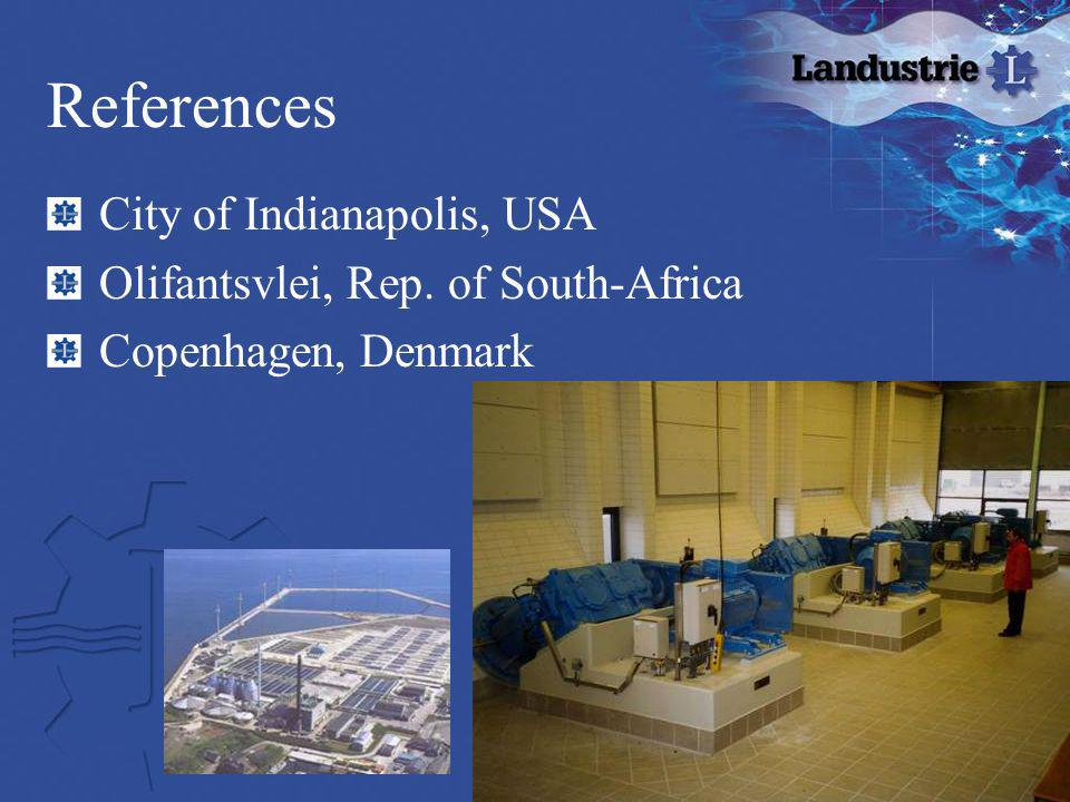 References City of Indianapolis, USA Olifantsvlei, Rep. of South-Africa Copenhagen, Denmark