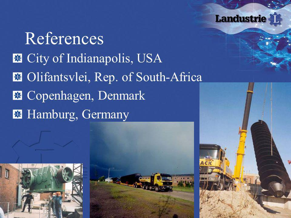 References City of Indianapolis, USA Olifantsvlei, Rep. of South-Africa Copenhagen, Denmark Hamburg, Germany