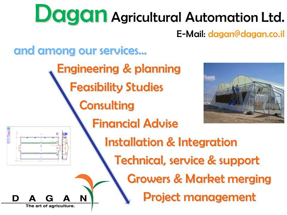 I.S.O Dagan Dagan Agricultural Automation Ltd. E-Mail: dagan@dagan.co.il
