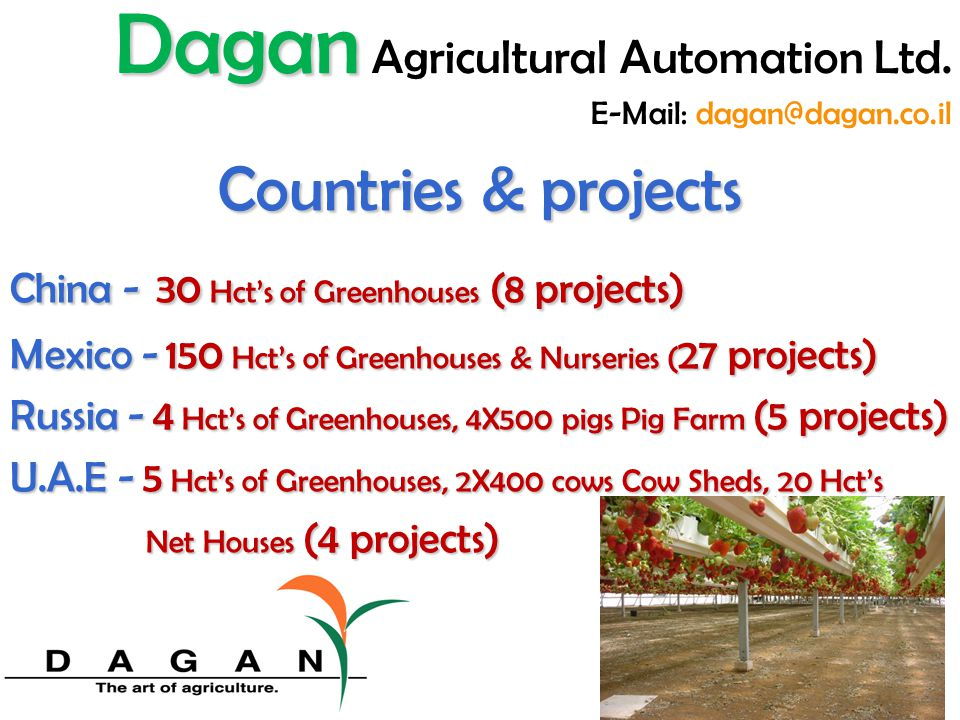 Net Houses Shading, Dark & Bright shading nets, Rolling & Lifting systems Dagan Dagan Agricultural Automation Ltd.