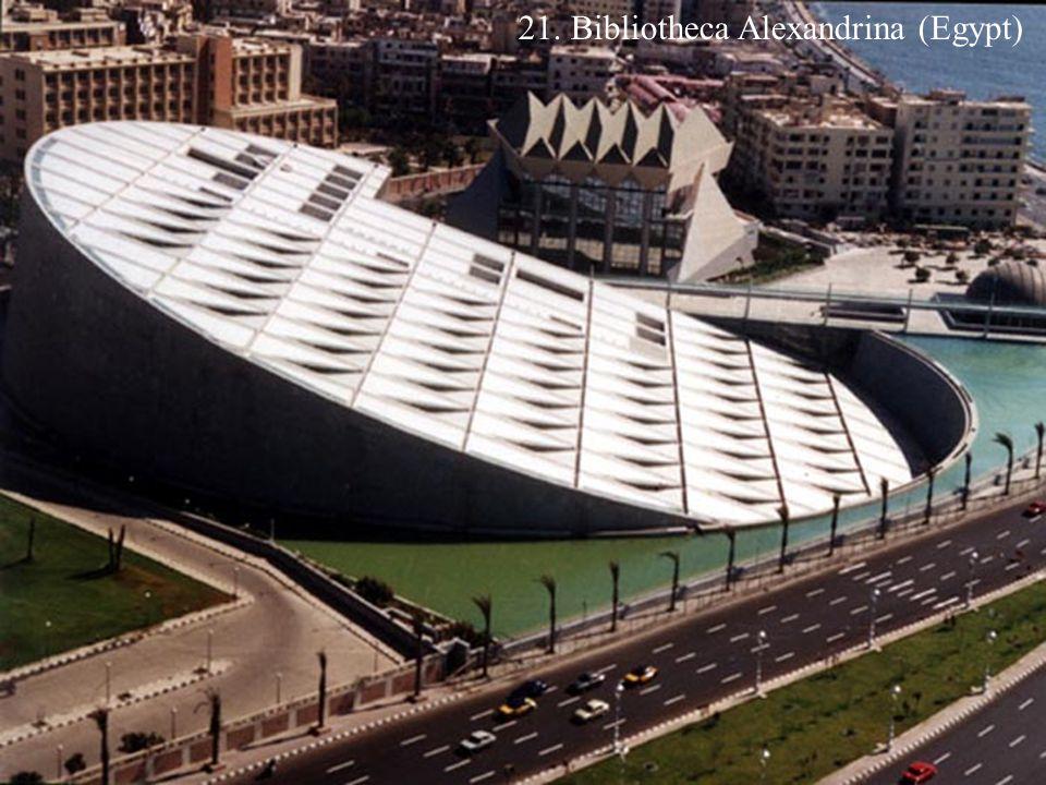 21. Bibliotheca Alexandrina (Egypt)