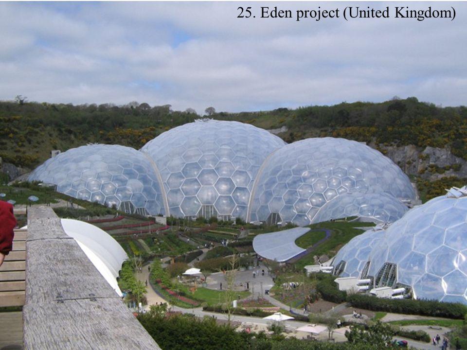25. Eden project (United Kingdom)