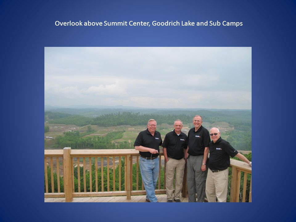 Overlook above Summit Center, Goodrich Lake and Sub Camps