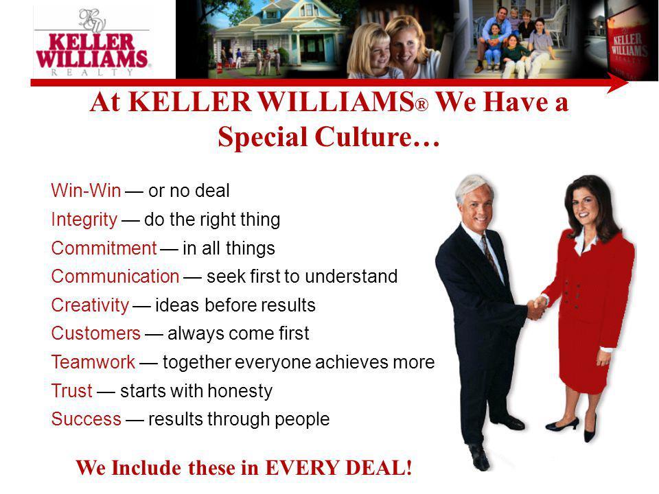 KELLER WILLIAMS ® is in ALL Major Markets