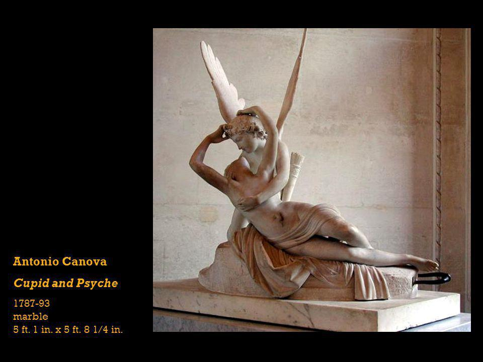 Antonio Canova Cupid and Psyche 1787-93 marble 5 ft. 1 in. x 5 ft. 8 1/4 in.