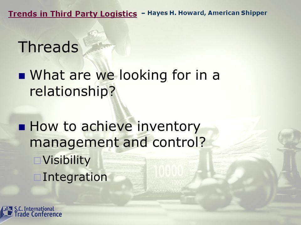 Trends in Third Party Logistics Speakers Michael Connor - Logistics Sr.