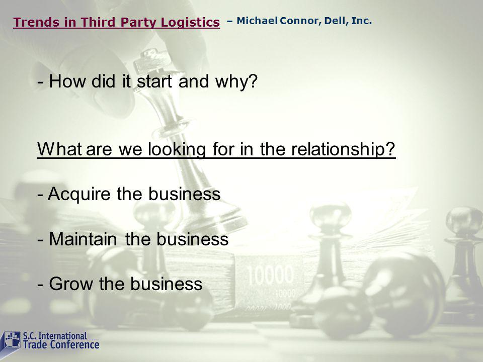 Trends in Third Party Logistics