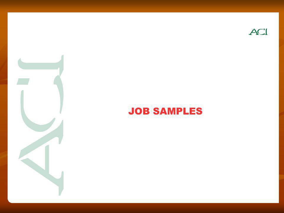 JOB SAMPLES