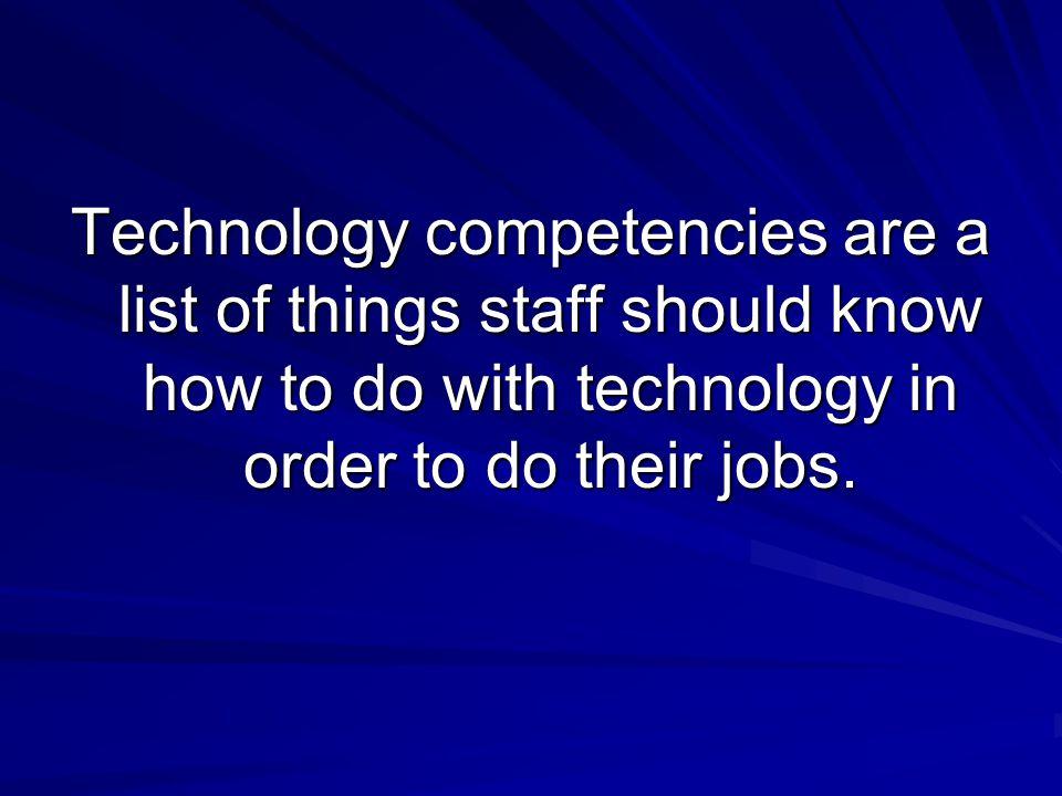 Top 5 Tech Competencies St.