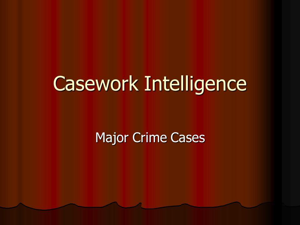 Casework Intelligence Major Crime Cases