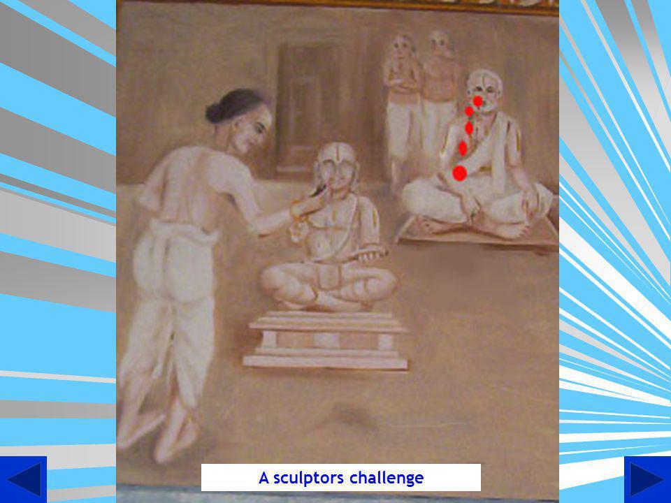 Present Day Idol of Swami Desikan in the Unique Ninra Thirukkolam [Standing Posture] at Sathyagalam