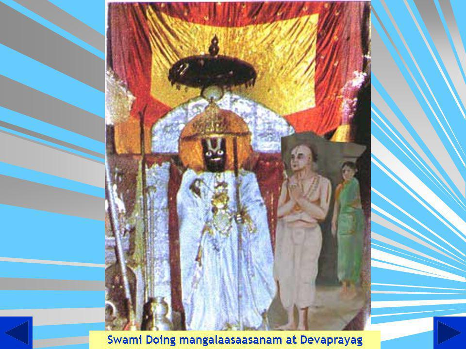 Swami Doing mangalasasnam at Thiruayarpadi
