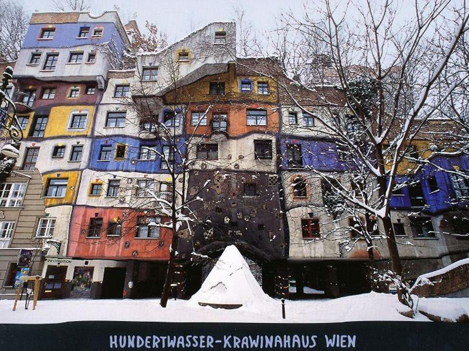 Wiedeń,Hundertwasserhaus Hundertwasser is the name of a residential complex in Vienna, one of the most famous architectural works of Friedensreich Hun