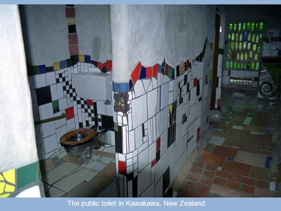 Hall public toilets in Kawakawa, New Zealand.