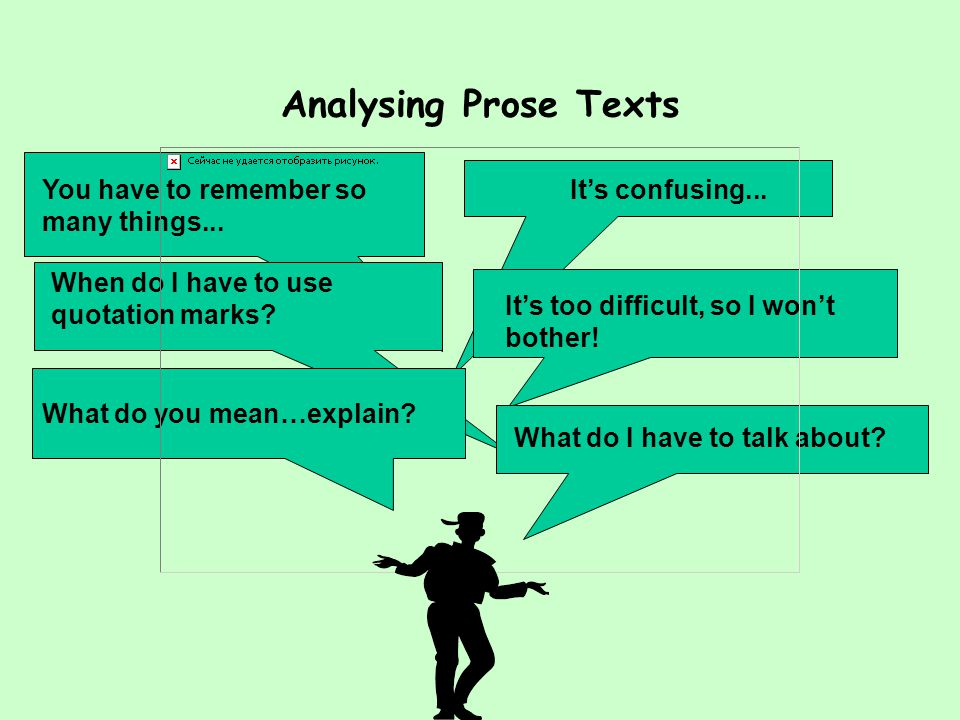 Analysing Prose Texts
