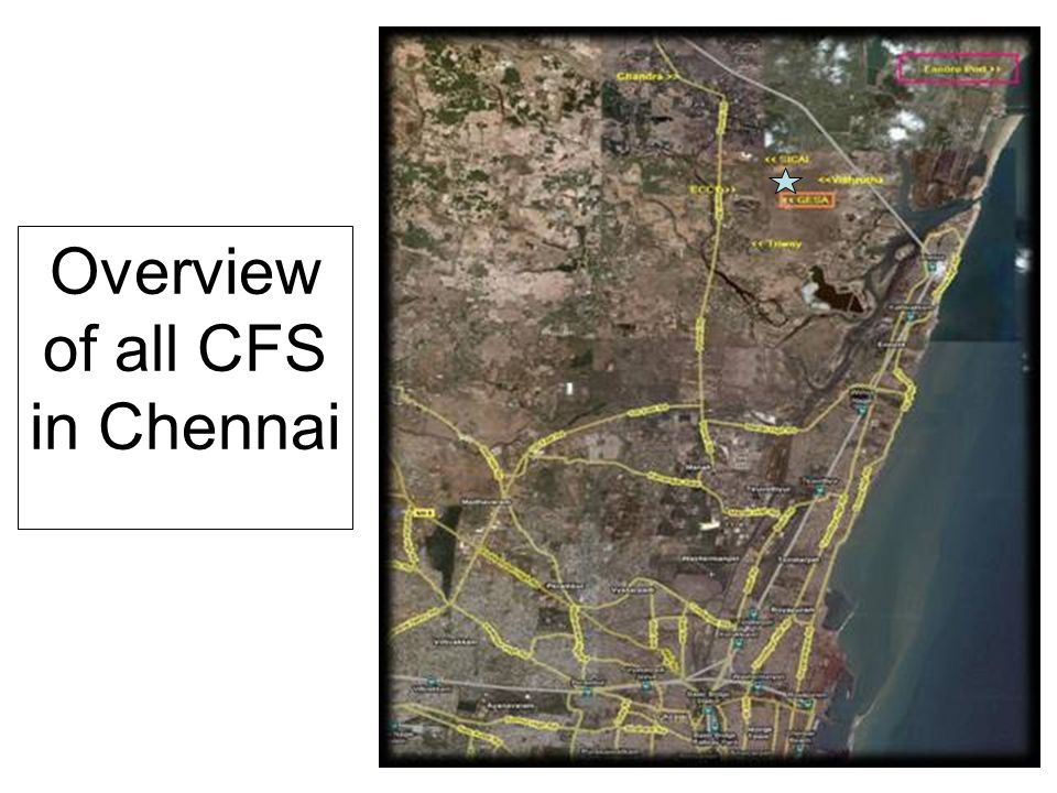 Located 25 kms north of the Chennai Container Terminal close to Ennore Port in the Hamlet of Minjur on the Ponneri Highway