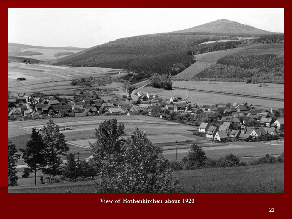 22 View of Rothenkirchen about 1920