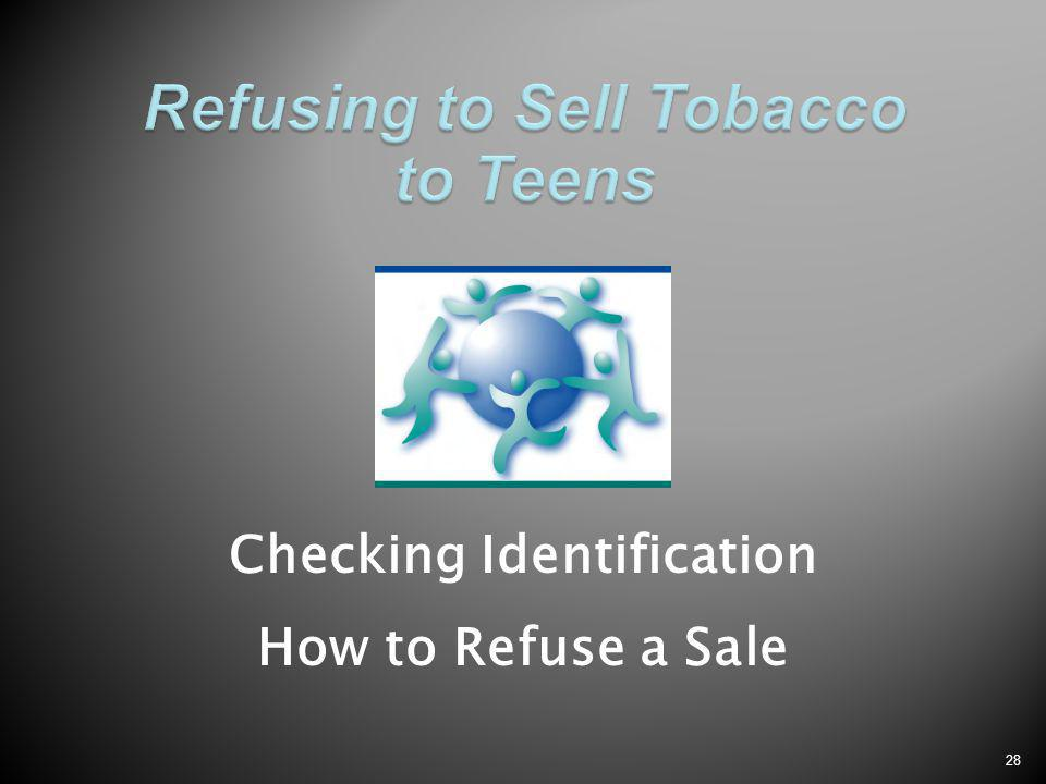 28 Checking Identification How to Refuse a Sale