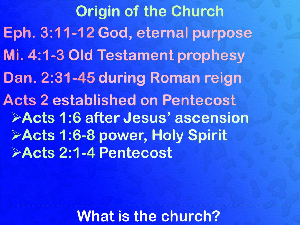 What is the church.The Called Out Body Matt. 16:18 Christs church 2 Th.