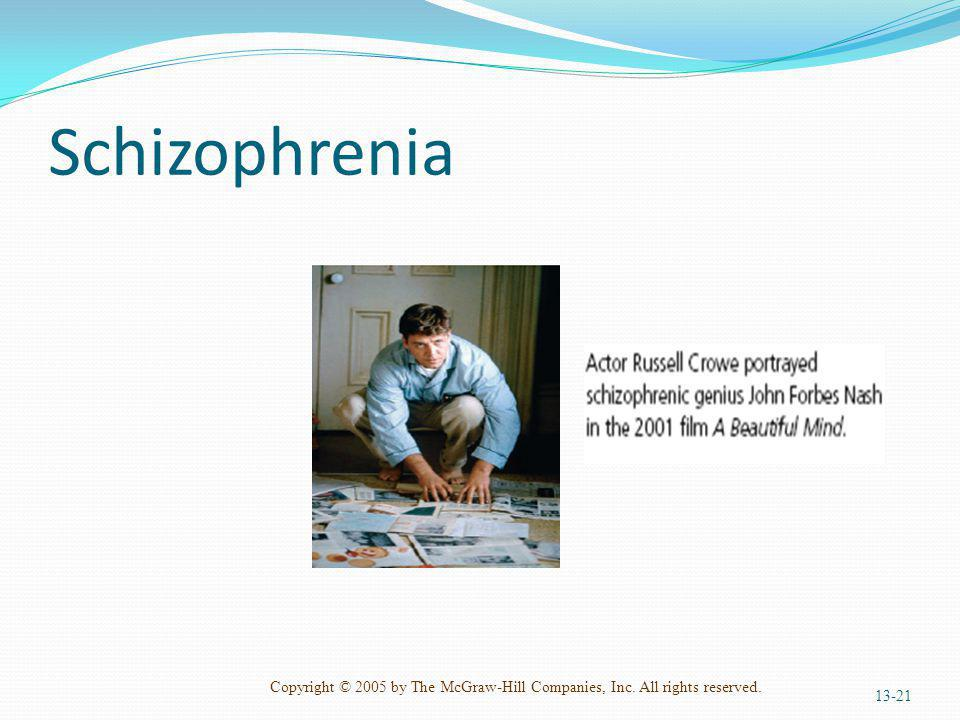 Copyright © 2005 by The McGraw-Hill Companies, Inc. All rights reserved. Schizophrenia 13-21