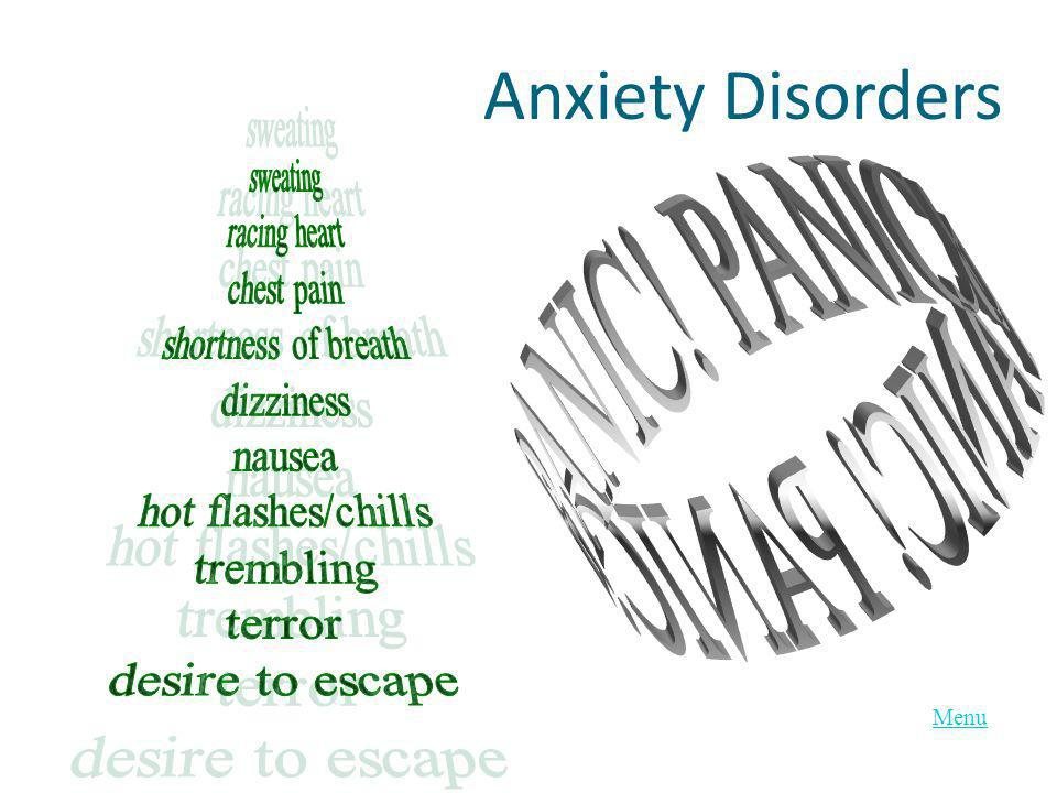 Menu Anxiety Disorders