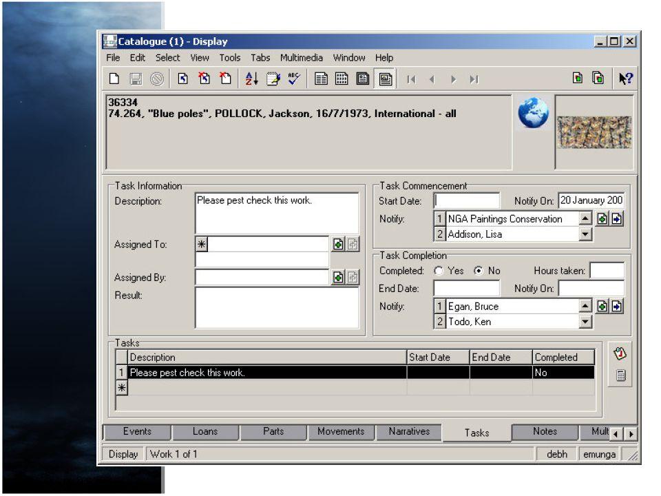 Tasks Pest Checks and Notifications utilised EMus tasks function