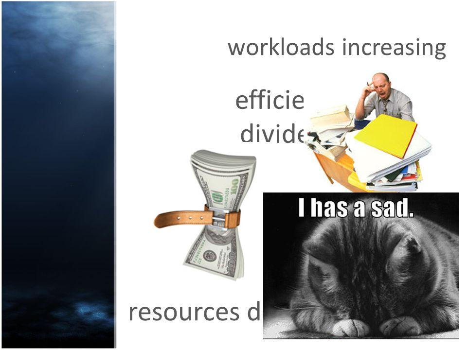 resources decreasing workloads increasing efficiency dividend