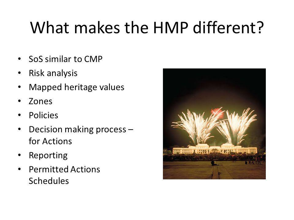 What makes the HMP different.