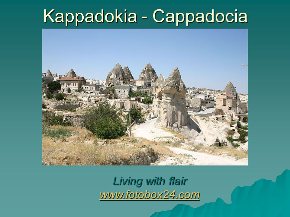 Kappadokia - Cappadocia Living with flair www.fotobox24.com