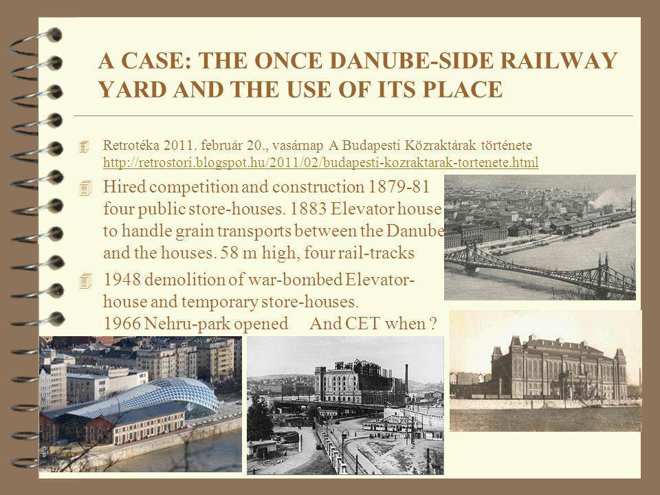 A CASE: THE ONCE DANUBE-SIDE RAILWAY YARD AND THE USE OF ITS PLACE 4 Retrotéka 2011. február 20., vasárnap A Budapesti Közraktárak története http://re