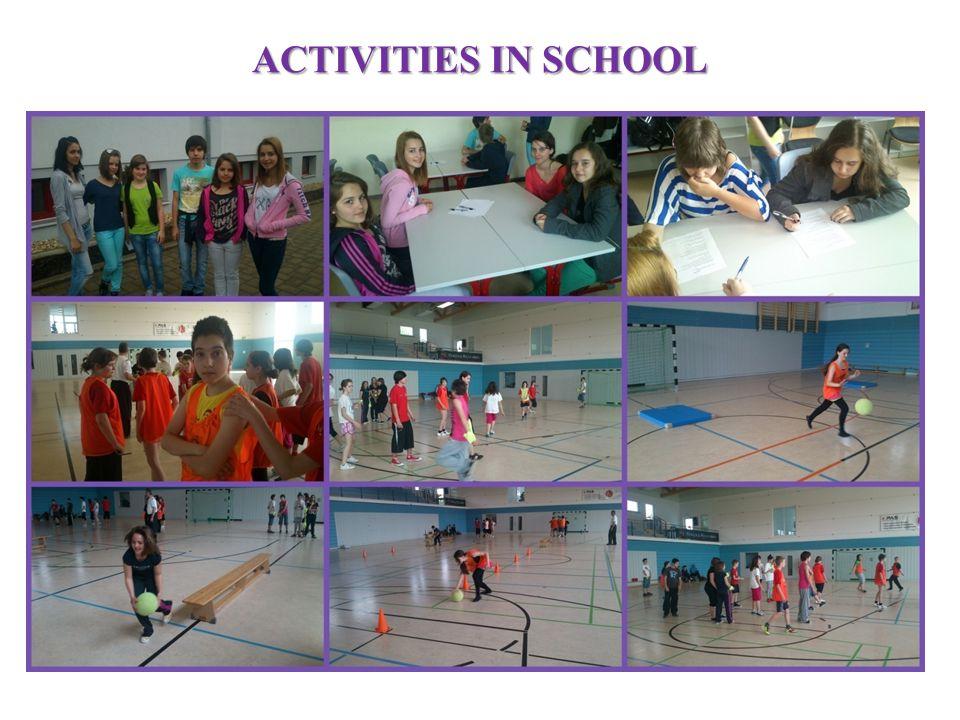 ACTIVITIES IN SCHOOL