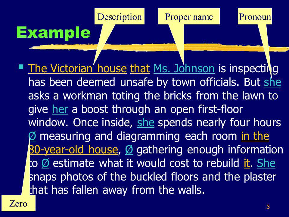 3 Example The Victorian house that Ms.